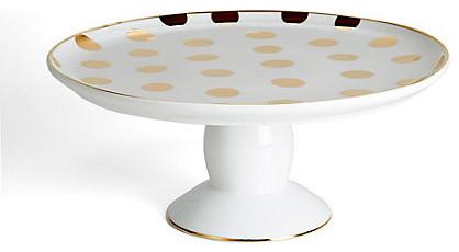 Polka Dot Cake Stand, Gold