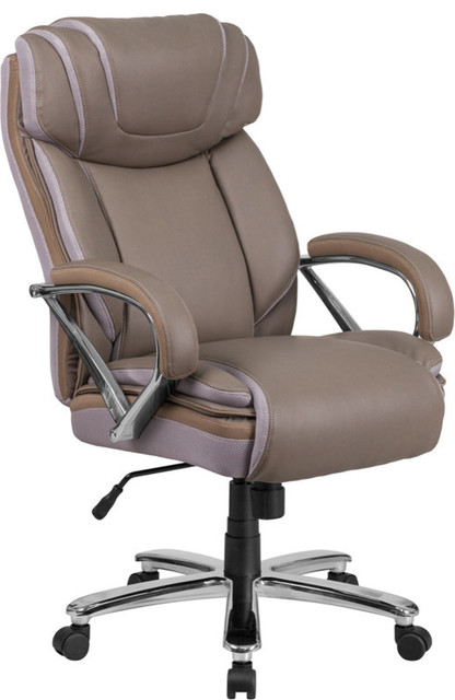Leather Office Chair, Taupe.