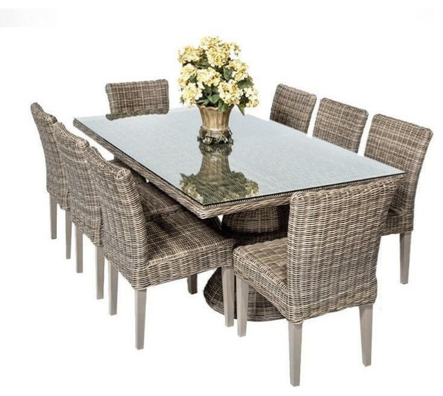 Royal Vintage Stone Rectangular Outdoor Patio Dining Table  : outdoor dining sets from www.houzz.com size 640 x 572 jpeg 92kB