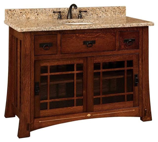 Morgan Bathroom Vanity Oak Natural Gl Door