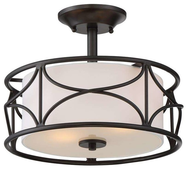 avara 2-light semi-flush mount, oil rubbed bronze - transitional