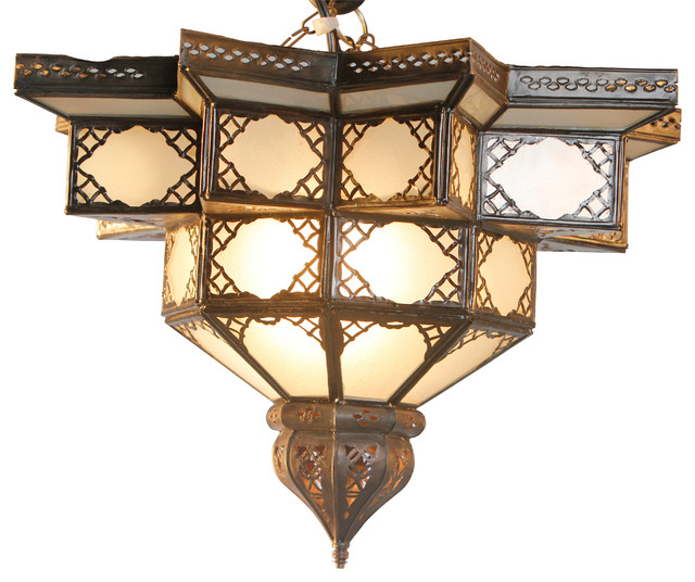 Moroccan flower ceiling lamp mediterranean flush mount for Mediterranean lighting fixtures