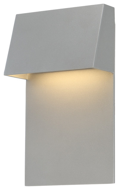 Zealous 10 Led Outdoor Wall Light In Graphite.