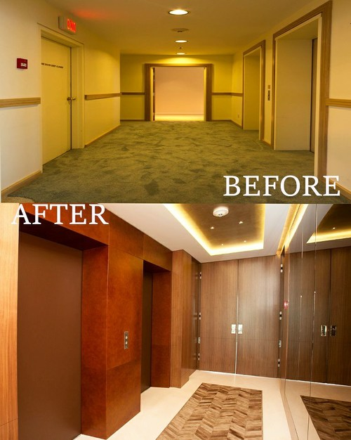 A personal elevator lobby for Personal elevators for the home