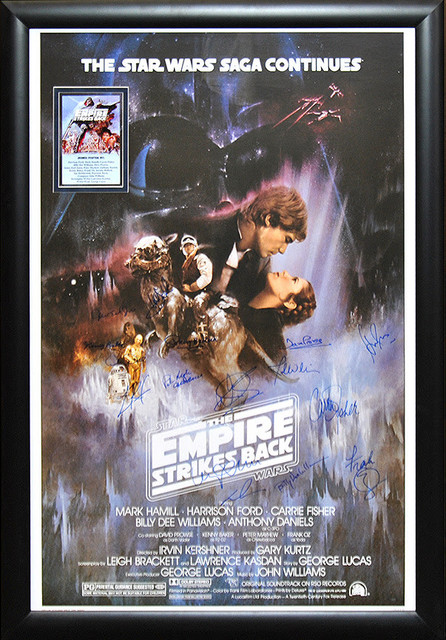 Star Wars Empire Strikes Back Signed Framed Poster