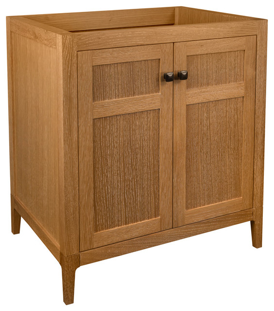 "Ronbow Briella Solid Wood 30"" Vanity Cabinet Base, Vintage Honey."