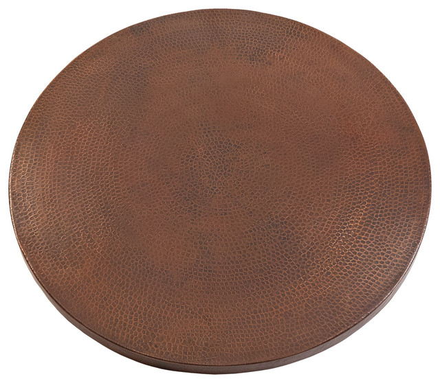 30 Round Hammered Copper Table Top.