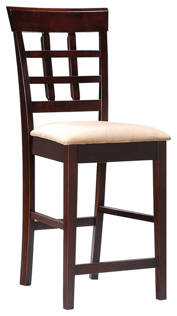 Coaster Mix And Match 24 Quot Wheat Back Bar Stool With Fabric