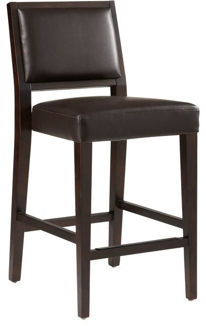 Fantastic Sunpan 5West Citizen Counter Stool Brown Leather Pdpeps Interior Chair Design Pdpepsorg
