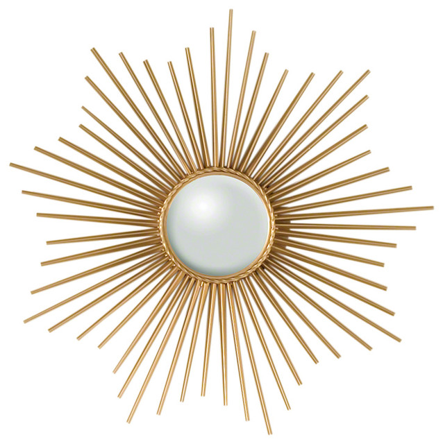 Mini Sunburst Mirror Gold  sc 1 st  Houzz & Mini Sunburst Mirror Gold - Midcentury - Wall Mirrors - by GLOBAL ...