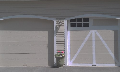 Faux Painting Garage Doors