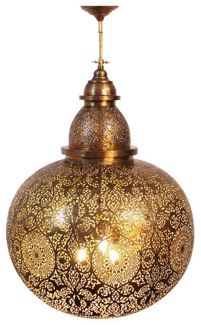 Giant Moroccan Brass Globe Lantern