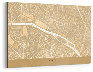 Minimal Sepia Paris City Map Art Print - Contemporary - Prints And Posters - by NOIR Gallery
