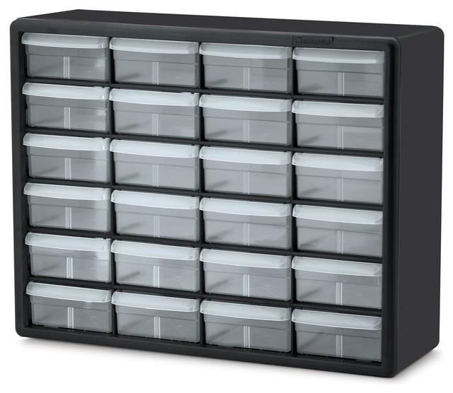 24-drawer storage cabinet in black - contemporary - storage