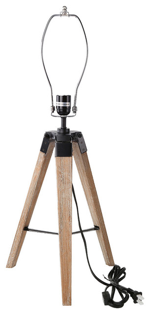 Old Wood Tripod Table Lamp Stand