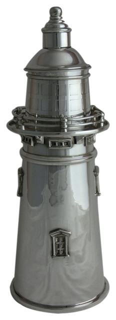 Boston Lighthouse Silver Plate Cocktail Shaker