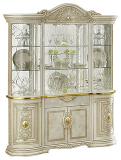 Leonardo 4 Door China Cabinet   Traditional   China Cabinets And Hutches    By SohoMod Furniture