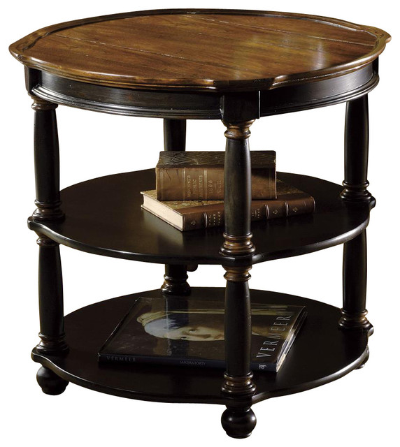 Tuscan Estates Round Library Table Contemporary Side Tables And End Tables