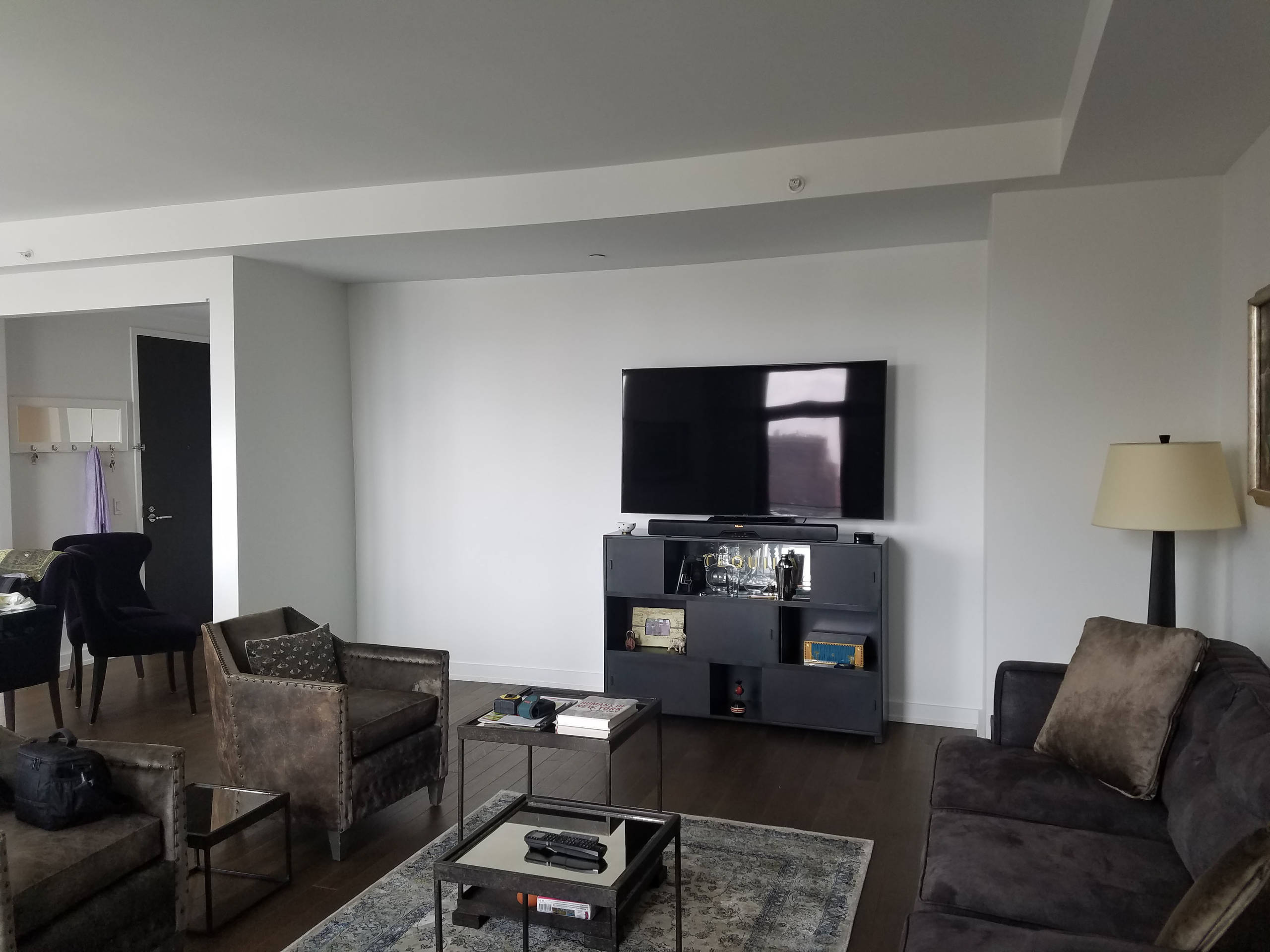 Family room TV unit in NYC