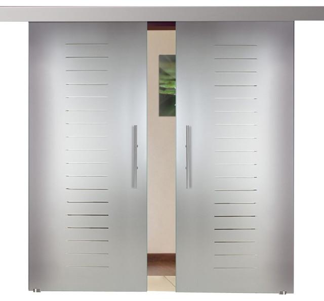 Sliding Double Leaf Barn Door And Short Lines Design