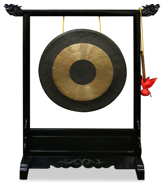 Gong Stand Designs : Shop houzz china furniture and arts brass gong with