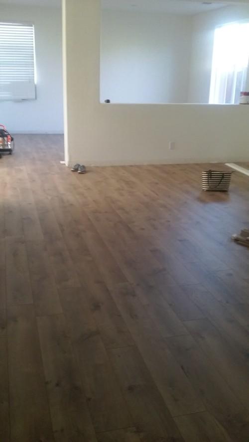 White walls and camden oak flooring for Camden flooring