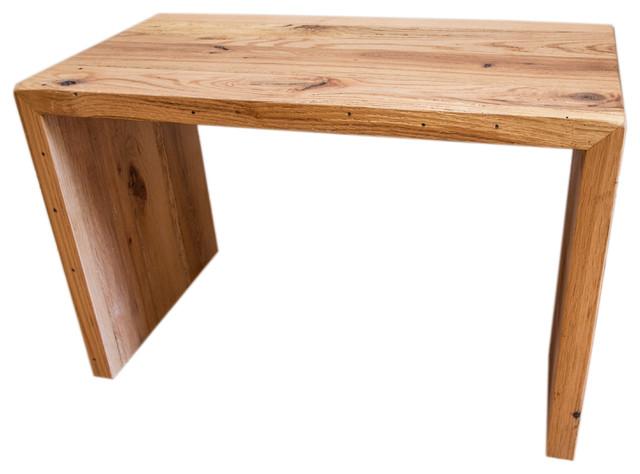 Reclaimed Barn Wood Waterfall Table Rustic Cascade Table