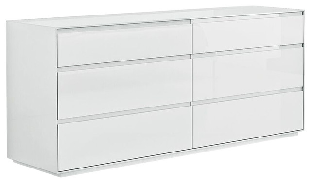 malibu 6drawer dresser white