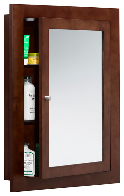Ronbow Frederick 24 X32 Wood Framed Bathroom Medicine Cabinet Dark Cherry Transitional Cabinets By Corp
