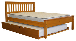 Bedz King Full Bed, Honey, Full Trundle, Quality Bunk Beds
