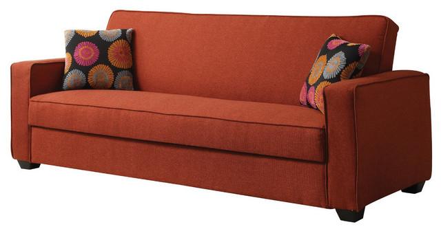 Acme Shani Adjustable Sofa, Red