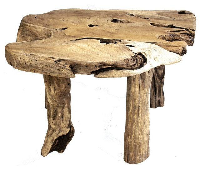 Stupendous Rustic Primitive Teak Root Wood Coffee Table Forskolin Free Trial Chair Design Images Forskolin Free Trialorg