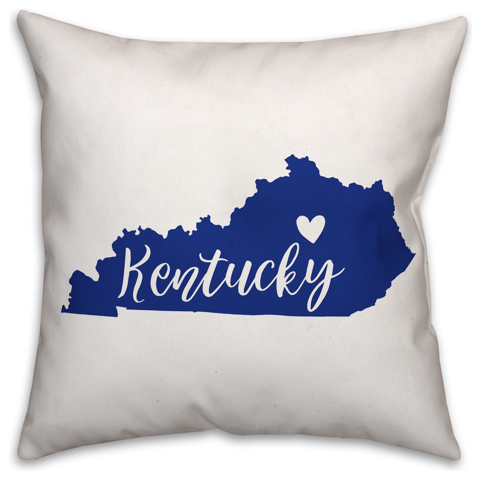 Kentucky State Pride Lexington Love Outdoor Throw Pillow Contemporary Outdoor Cushions And Pillows By Designs Direct Houzz