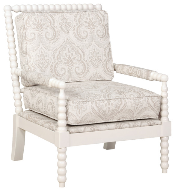 sussex beige spindal wood frame chair contemporary armchairs and accent chairs - Wood Frame Chair