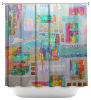 Shower Curtain Unique from DiaNoche Designs - Bleedthrough II