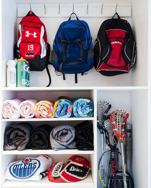 Mudroom/laundry room/office/closet- A place for everything!