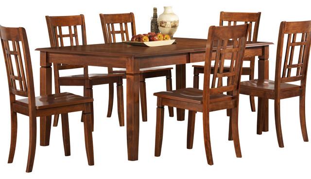 Homelegance Gresham Extension Leaf Dining Table In Brown
