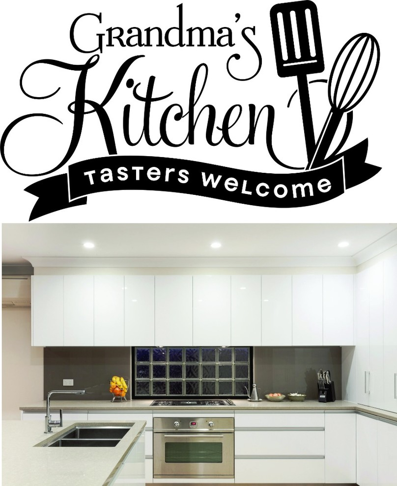 gift Grandma/'s Kitchen Love served daily Wall Sticker  vinyl decal wall art