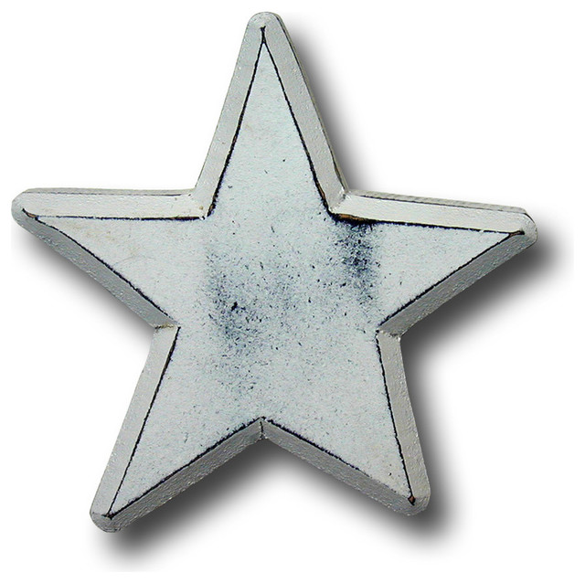 One World - Distressed Star Wooden Drawer Pull - View in Your Room!   Houzz