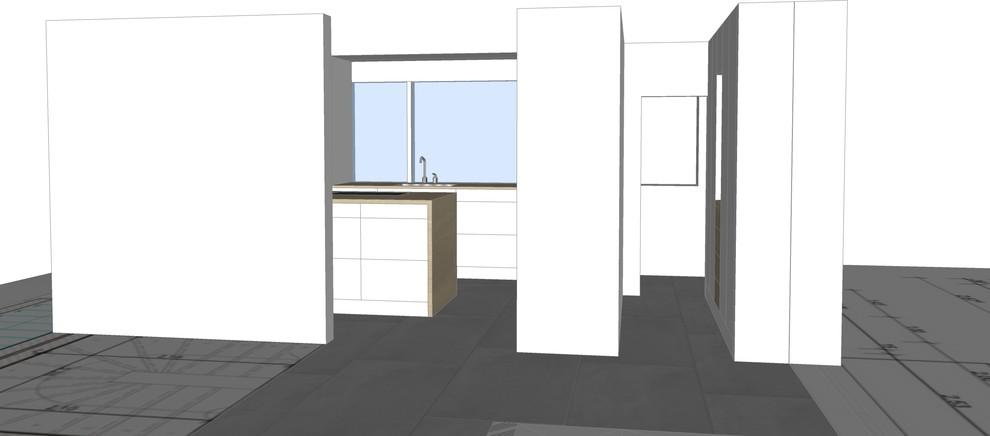 Geschlossene Küche mit Insel Bild 6