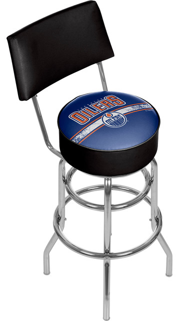 Awesome Nhl Swivel Barstool With Back Edmonton Oilers Alphanode Cool Chair Designs And Ideas Alphanodeonline