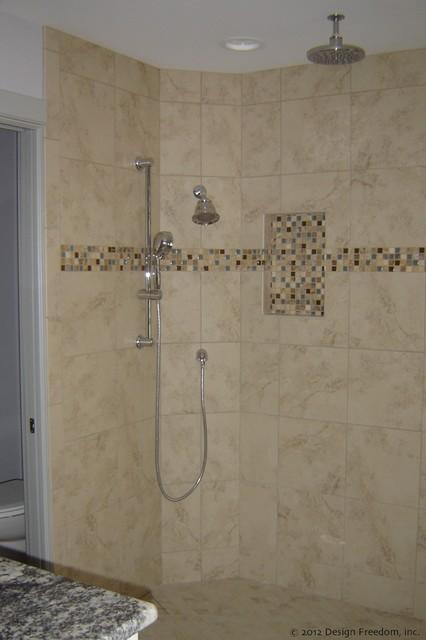 Master bathroom walk in shower traditional tampa by for Master bathroom plans with walk in shower