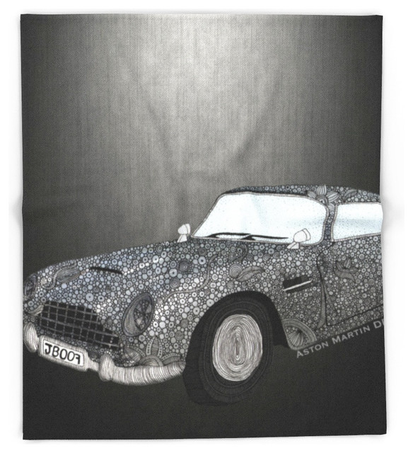 society6 james bond aston martin db5 blanket contemporary blankets by society6. Black Bedroom Furniture Sets. Home Design Ideas