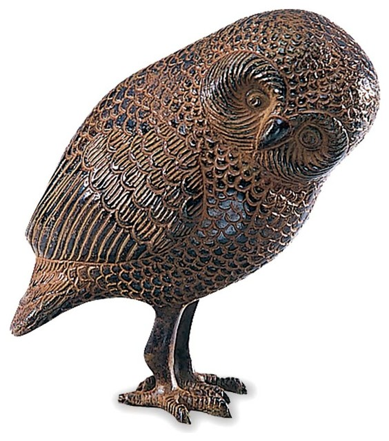 Brass Owl Statue Contemporary Garden Statues And Yard Art