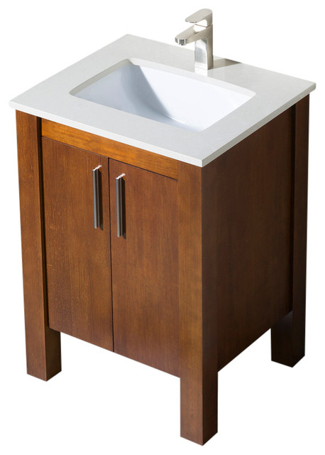 dark walnut bathroom cabinet bathroom vanity parsons 25 walnut white sink white 18056