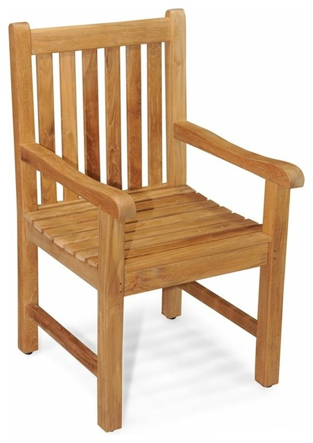 Block Island Garden Armchair Traditional Outdoor Dining Chairs