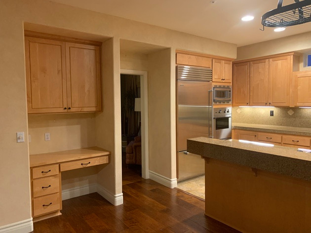 Kitchen Reface and Living Room Remodel