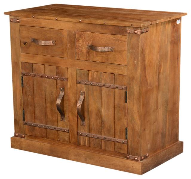 Modern Rustic Solid Wood Buffet Cabinet - Rustic - Storage ...