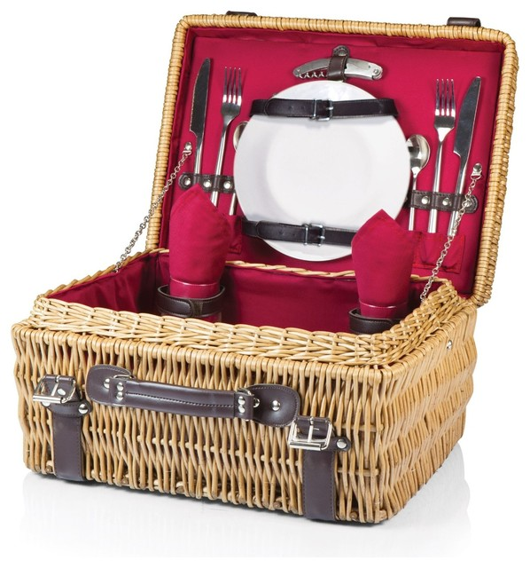 Champion Picnic Basket For 2, Red