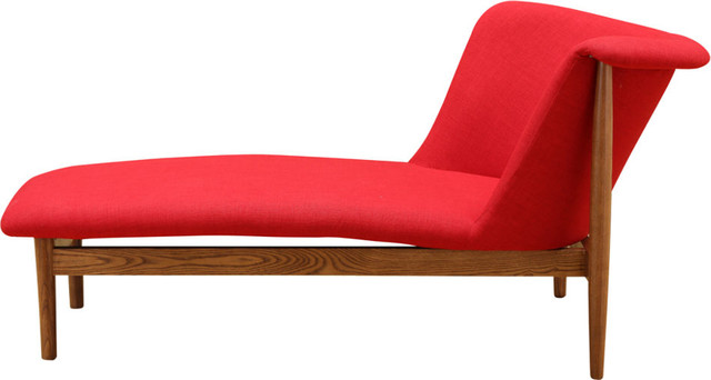 Fine Mod Imports Ash Lounge Chair, Red.